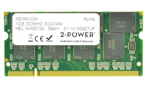Satellite M40-276 1GB PC2700 333MHz SODIMM